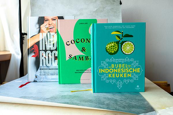 Indorock by Vanja van der Leeden, Coconut&Sambal by Lara Lee and De Bijbel van de Indonesische Keuken by Maureen Tan